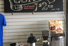 Locally roasted coffee!